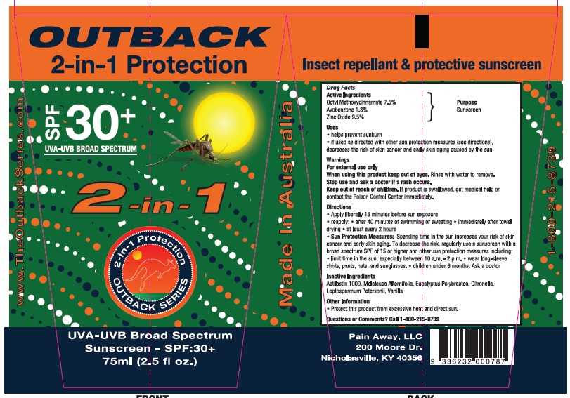 Outback Series 2-in-1 Sunscreen (Octyl Methoxycinnamate,avobenzone And Zinc Oxide) Cream [Elmore Oil Company Pty Ltd]