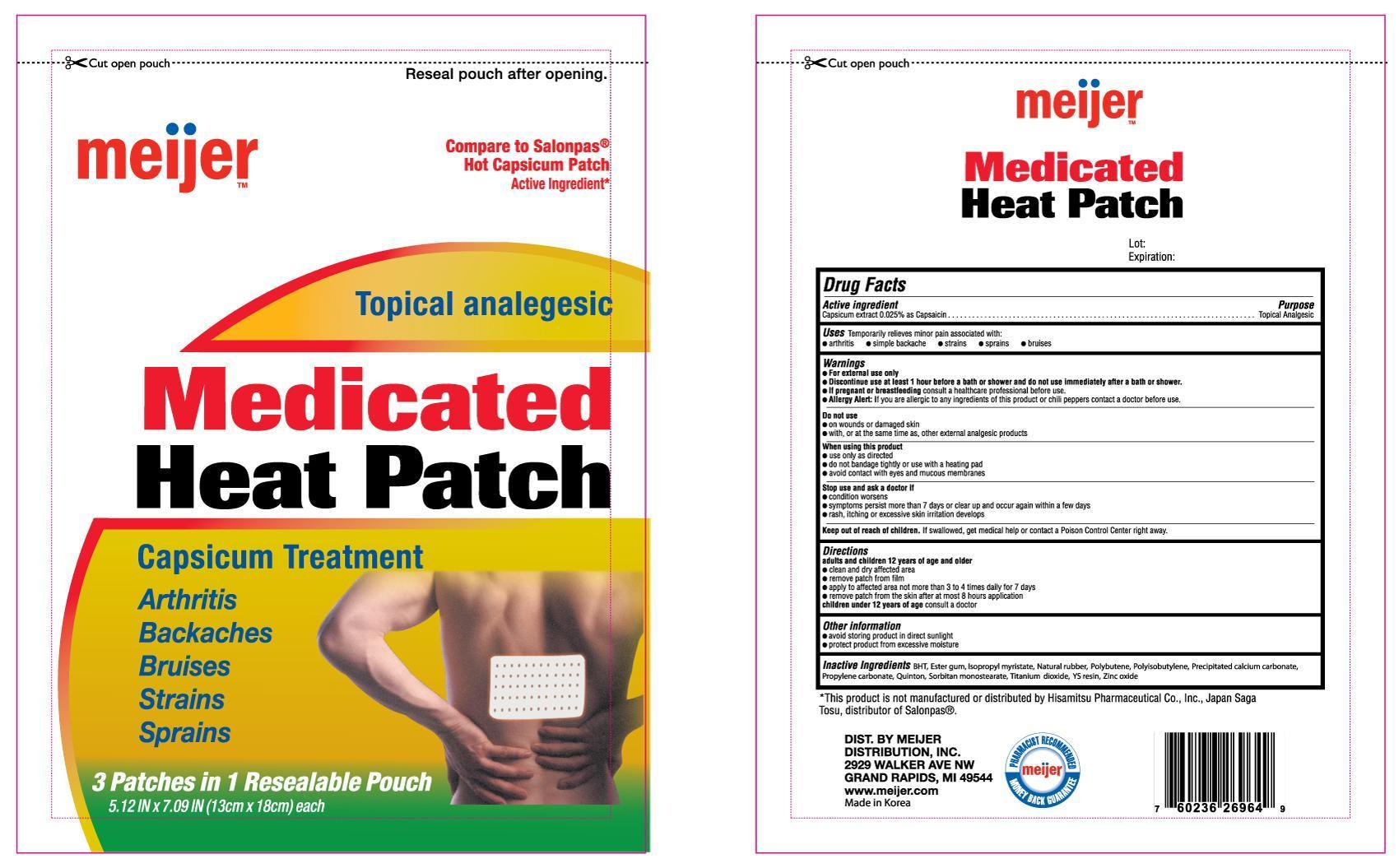 Meijer Medicated Heat (Capsaicin) Patch [Meijer]