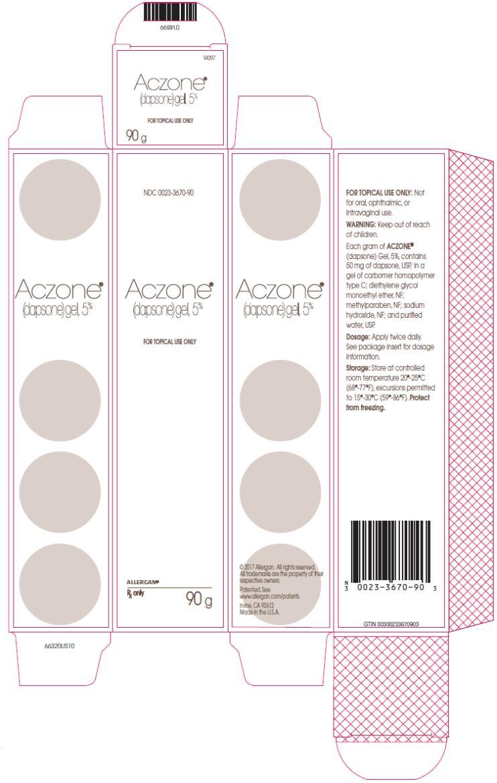 PRINCIPAL DISPLAY PANEL NDC 0023-3670-90 Aczone (dapsone)gel, 5% 90 g Rx Only