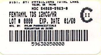 Fentanyl Transdermal System 12 mcg/hr Carton
