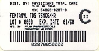 Fentanyl Transdermal System 75 mcg/hr Carton