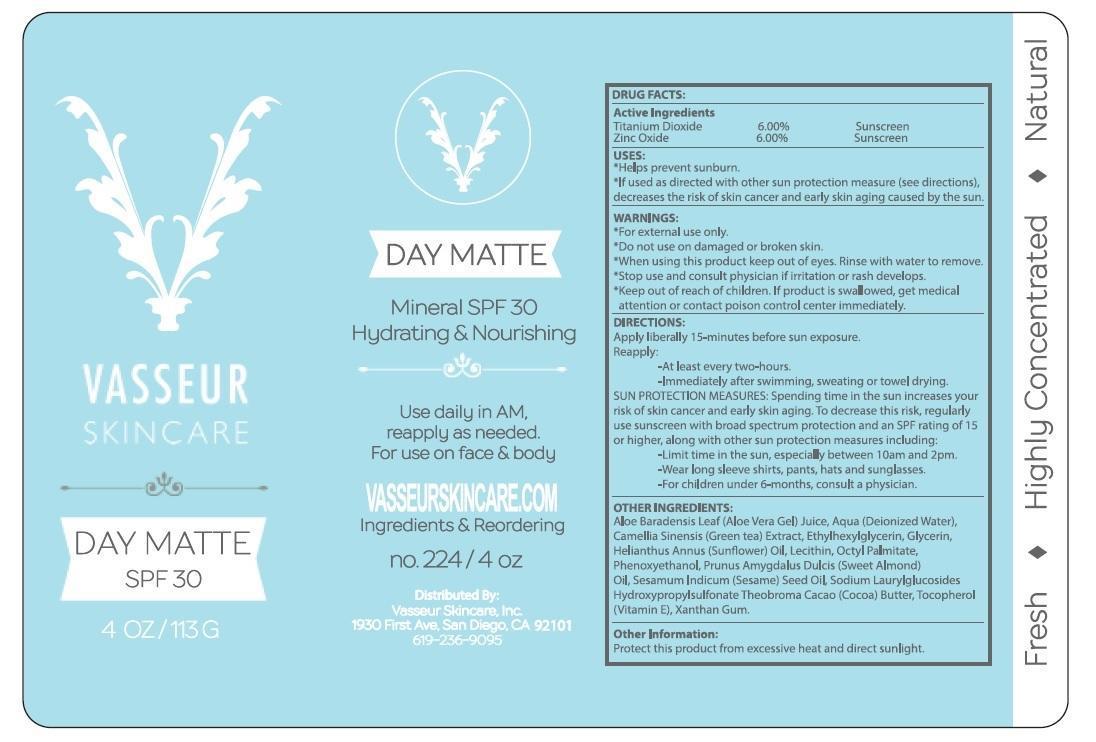 Vasseur Skincare Day Matte Spf30 (Titanium Dioxide, Zinc Oxide) Cream [Vasseur International Inc]