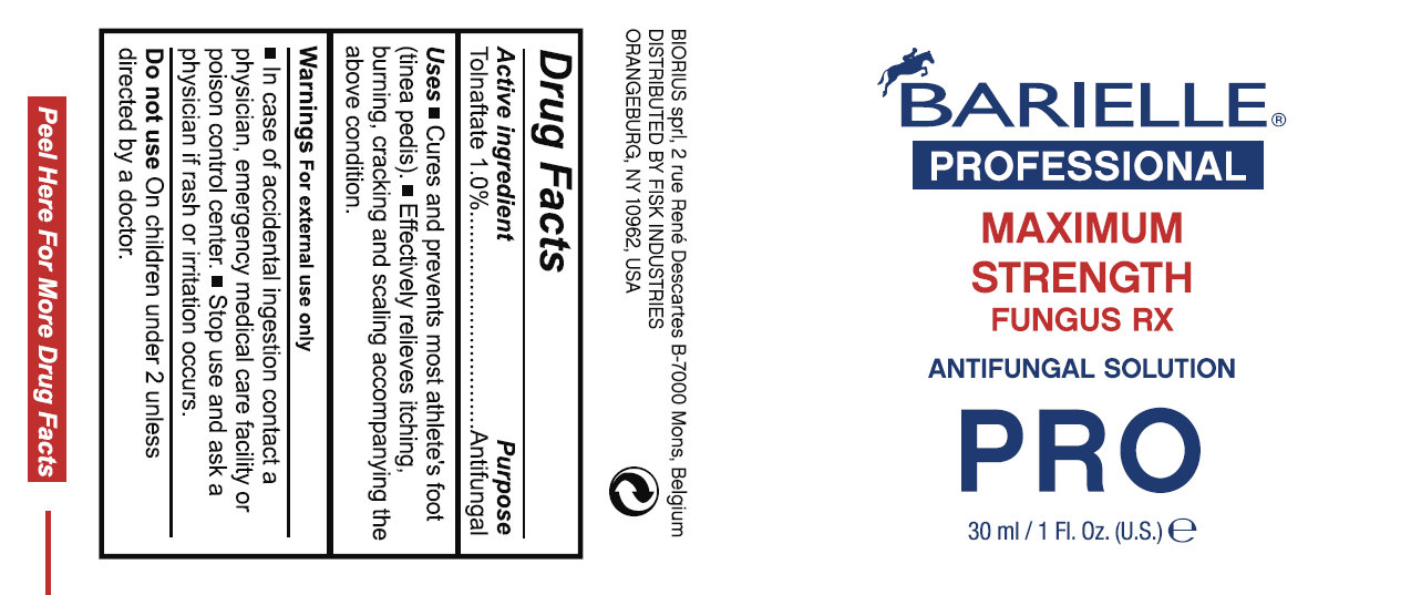Barielle Professional Maximum Strength Fungus Rx Antifungal Pro (Tolnaftate) Solution [Fisk Industries]