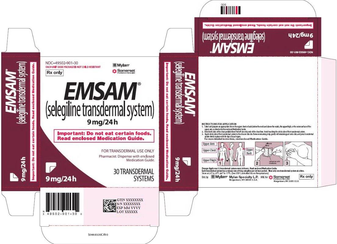 Emsam Transdermal 9 mg/24 hour Carton Label