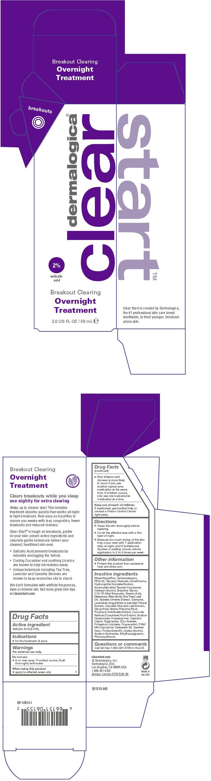 Breakout Clearing Overnight Treatment (Salicylic Acid) Lotion [Dermalogica, Inc.]