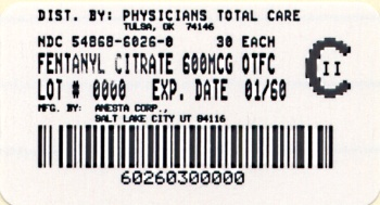 image of 600 mcg package label