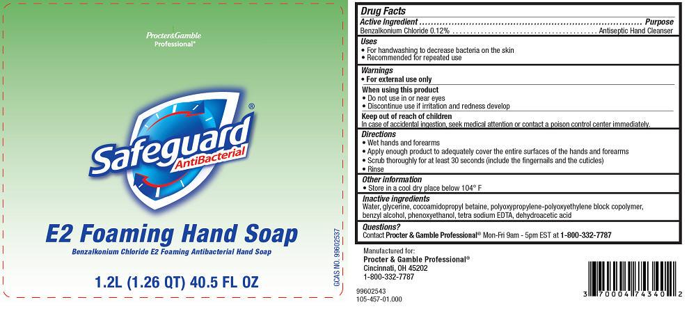 Safeguard Antibacterial E2 Foaming (Benzalkonium Chloride) Soap [Procter & Gamble Manufacturing Company]