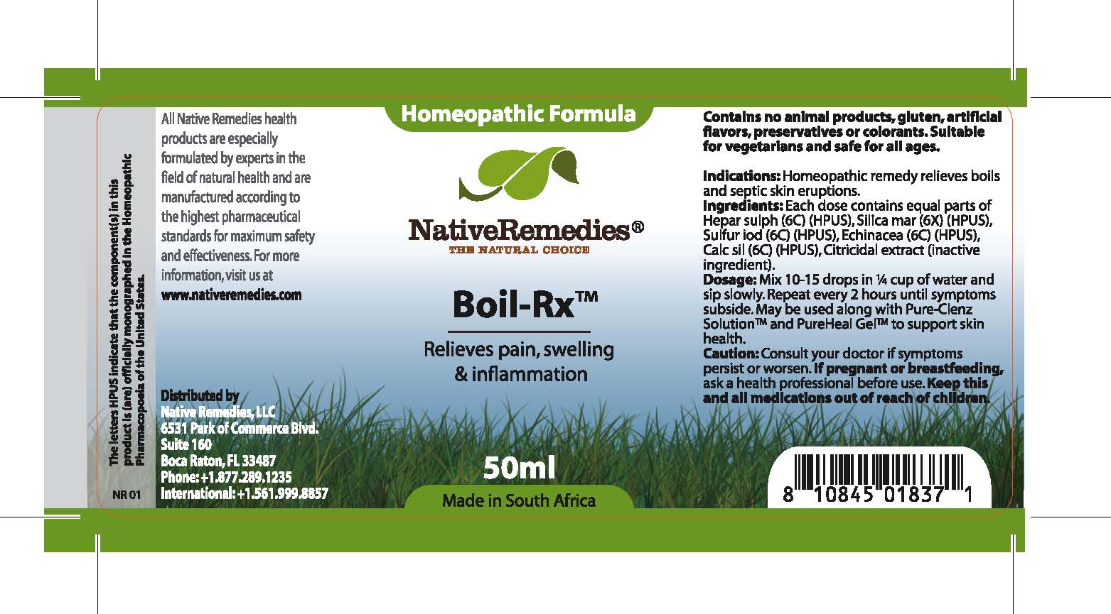 Boil-rx (Hepar Sulph, Silica Mar, Sulfur Iod, Echinacea , Calc Sil, Citricidal Extract ) Tincture [Feelgood Health]