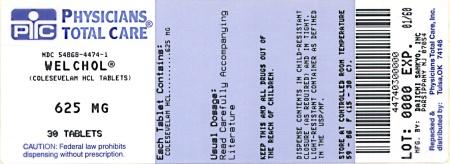 Package Label - Principal Display Panel – 625 mg  Bottle, Welchol Tablet