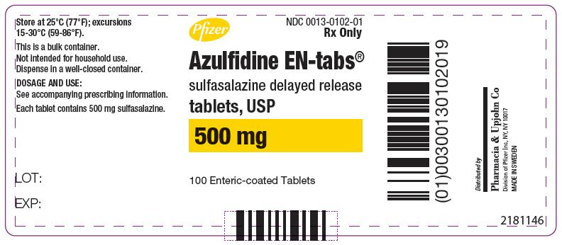 Azulfidine En-tabs (Sulfasalazine) Tablet, Delayed Release [Pharmacia And Upjohn Company]