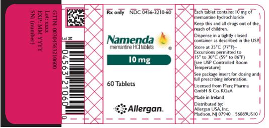 PRINCIPAL DISPLAY PANEL Rx Only NDC 0456-3205-60 Namenda memantine HCl tablets 5 mg 60 Tablets