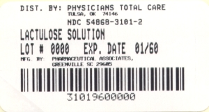 image of Lactulose Solution Package Label