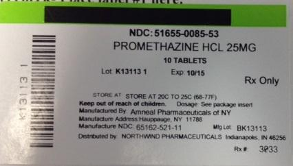 Promethazine Hydrochloride Tablet [Northwind Pharmaceuticals]