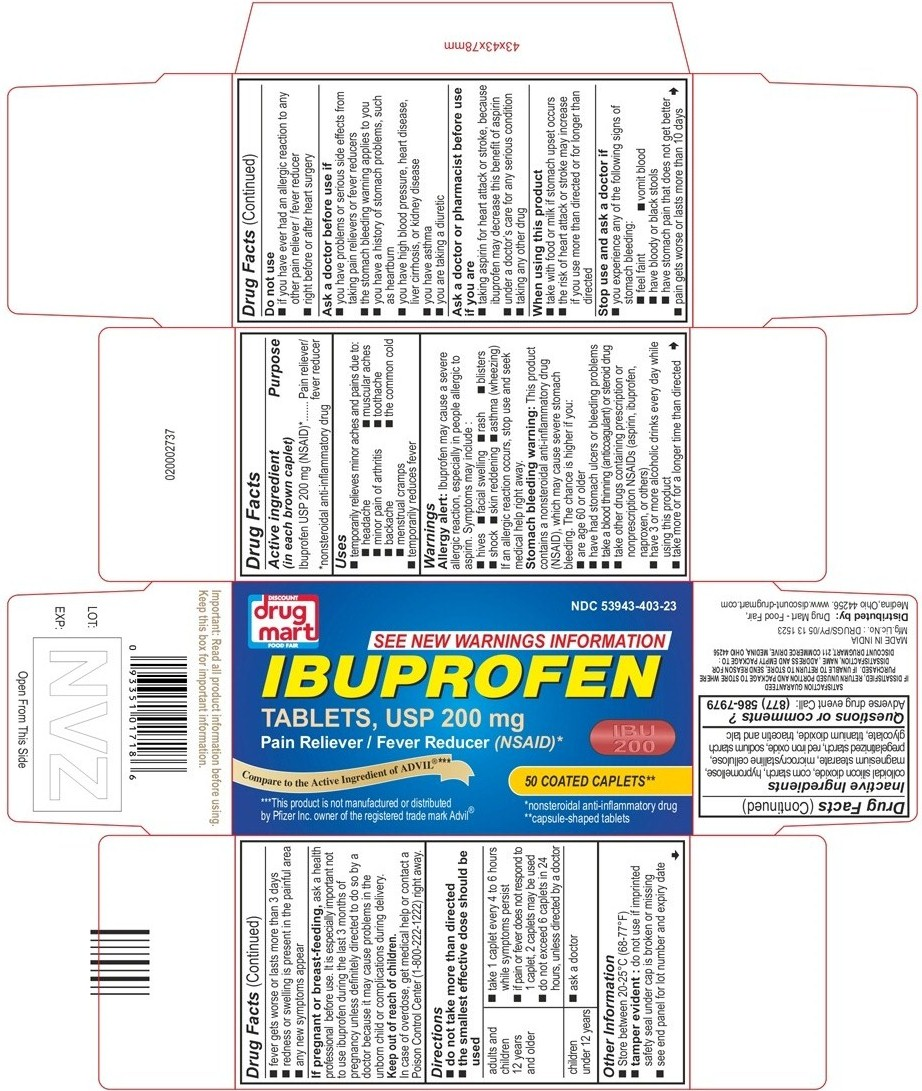 Ibuprofen Immediate Release (Ibuprofen) Tablet, Coated [Discount Drug Mart]