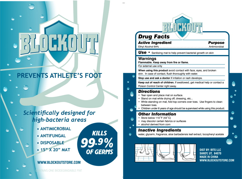Blockout Foot Wipes (Alcohol) Cloth [Ideas Born To Succeed]