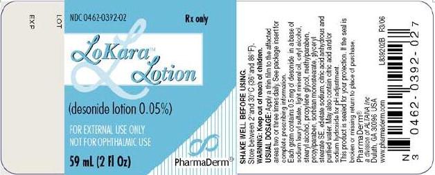 Lokara (Desonide) Lotion [E. Fougera & Co. A Division Of Fougera Pharmaceuticals Inc.]