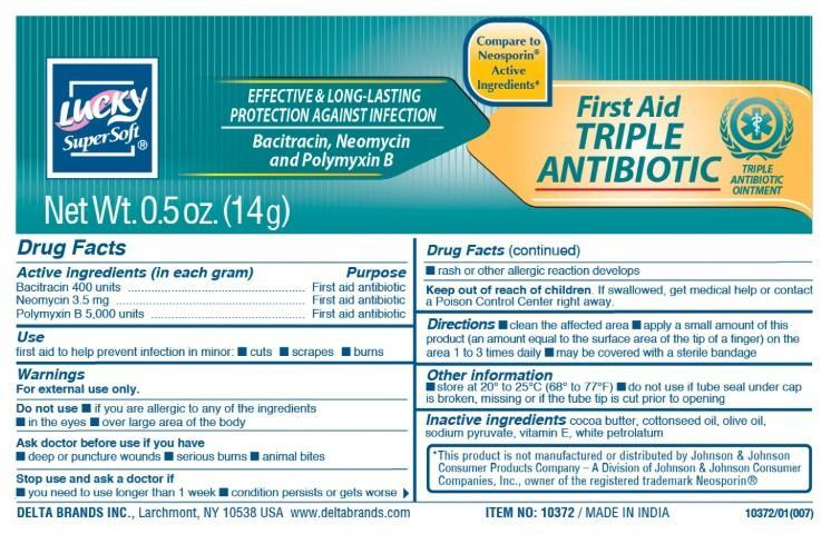 Lucky Supersoft First Aid (Bacitracin Neomycin Polymyxin B) Ointment [Delta Brands, Inc]
