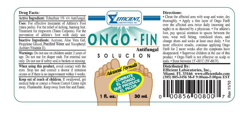 Ongo – Fin (Tolnaftate) Liquid [Efficient Laboratories Inc.]