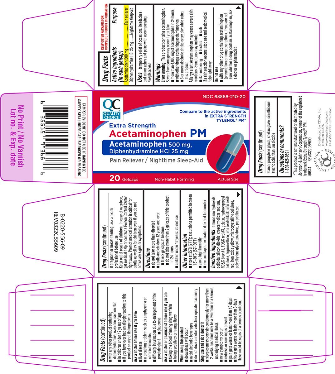 Acetaminophen Pm Extra Strength (Acetaminophen, Diphenhydramine Hcl) Tablet [Chain Drug Marketing Association Inc]