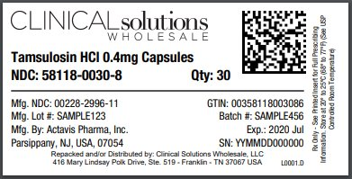 Tamsulosin Hydrochloride Capsule [Clinical Solutions Wholesale, Llc]