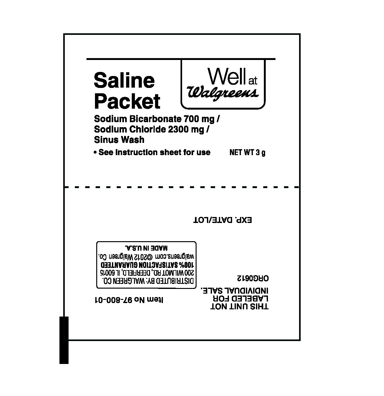 Well At Walgreens (Sodium Bicarbonate, Sodium Chloride) Powder, For Solution [Walgreen Company]