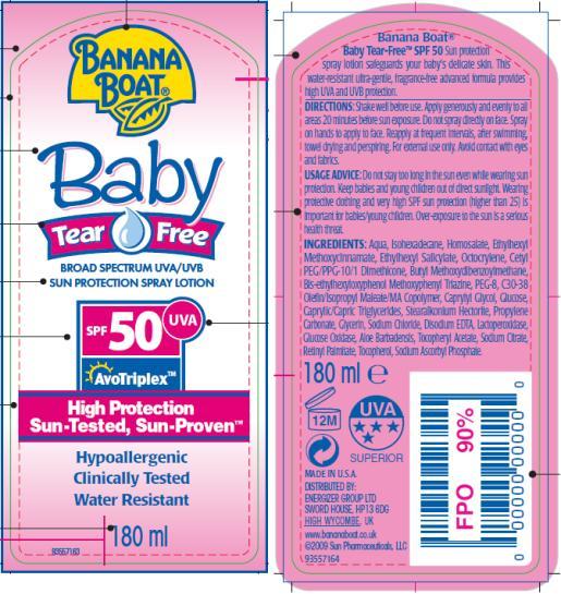 PRINCIPAL DISPLAY PANEL Banana Boat Baby Tear Free Spray Lotion SPF 50