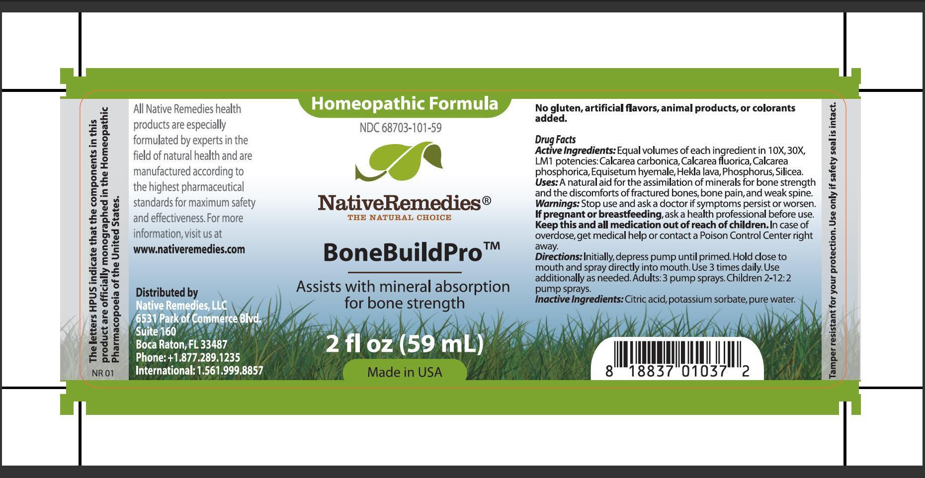 Bonebuildpro (Calcarea Carbonica, Calcarea Fluorica, Calcarea Phosphorica, Equisetum Hyemale, Hekla Lava, Phosphorus, Silicea) Spray [Native Remedies, Llc]