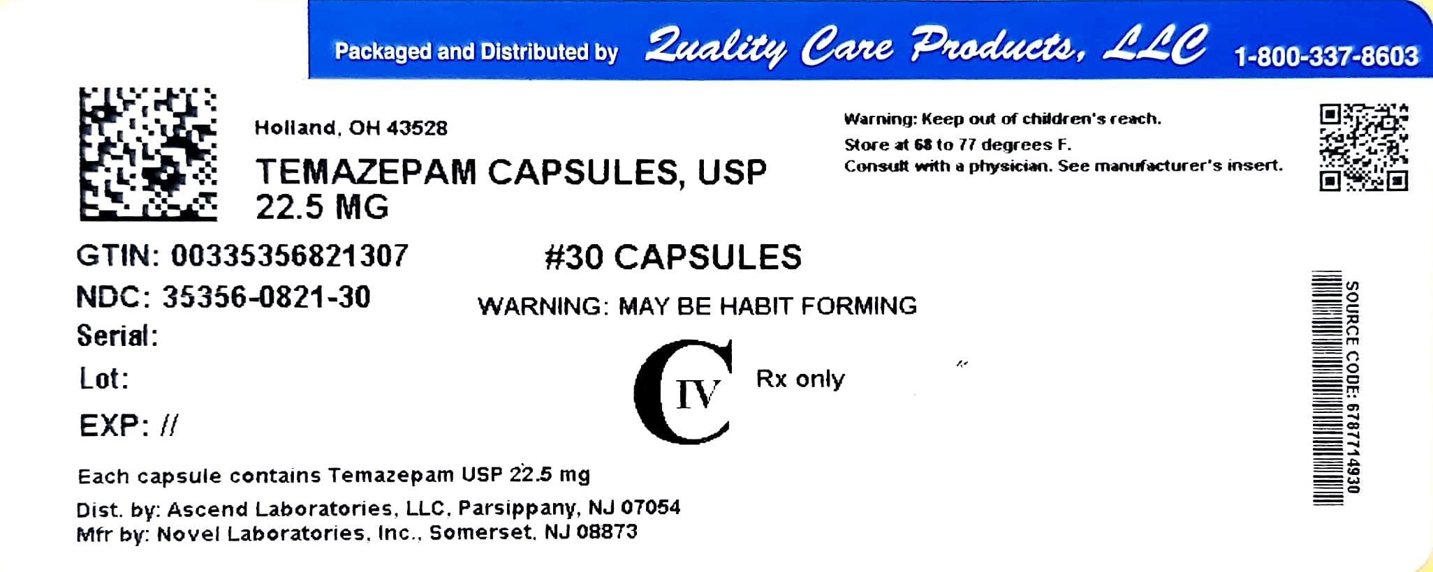 Image of 22.5mg Label