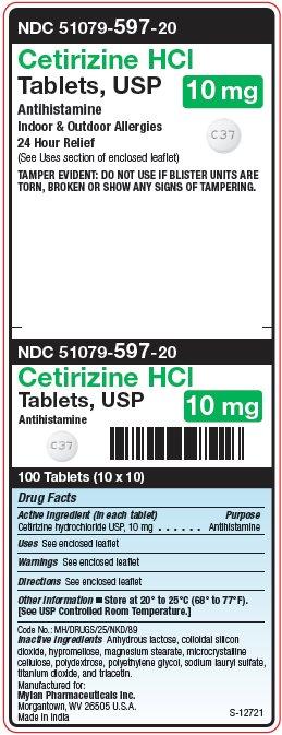 Cetirizine Hydrochloride Tablet, Film Coated [Mylan Institutional Inc.]