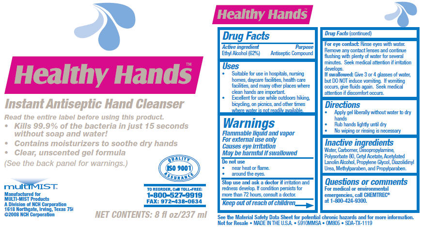 Healthy Hands Instant Antiseptic Hand Cleanser (Alcohol) Solution [Nch Corporation]