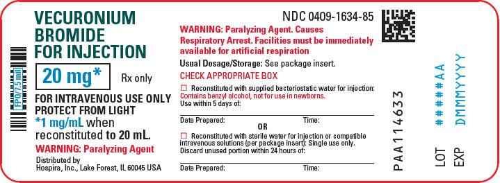 PRINCIPAL DISPLAY PANEL - 20 mg Vial Label