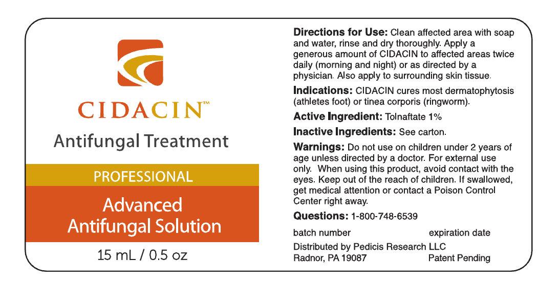 Cidacin Antifungal Treatment (Tolnaftate) Solution [Pedicis Research Llc]