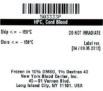 Hemacord (Human Cord Blood Hematopoietic Progenitor Cell) Injection [New York Blood Center]