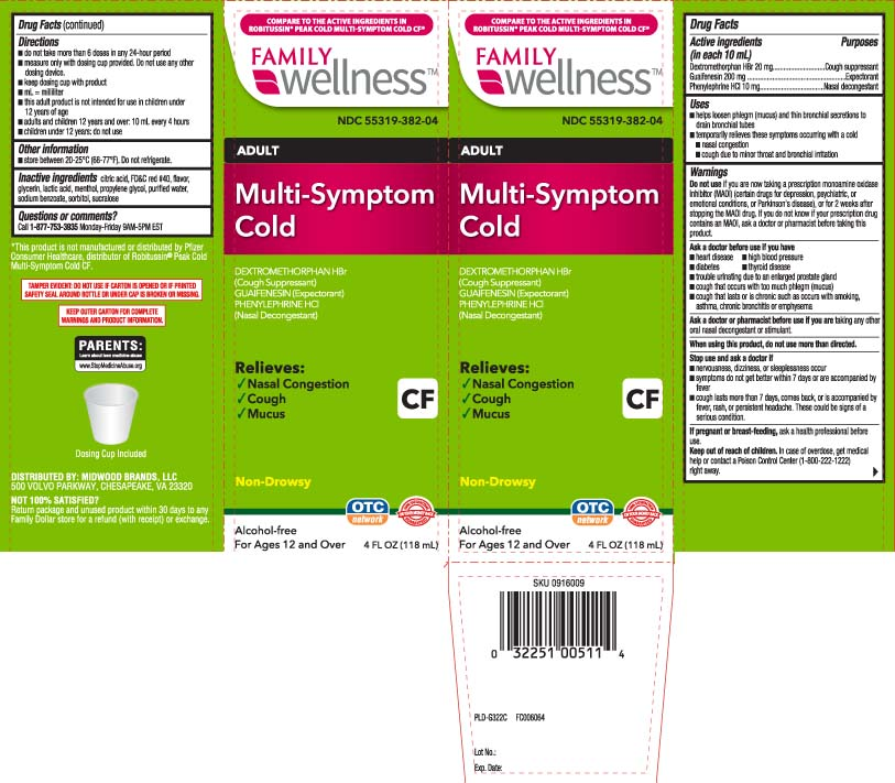 Multi Symptom Cold Cf Adult (Dextromethorphan Hbr, Guaifenesin, Phenylephrine) Liquid [Family Dollar (Family Wellness)]
