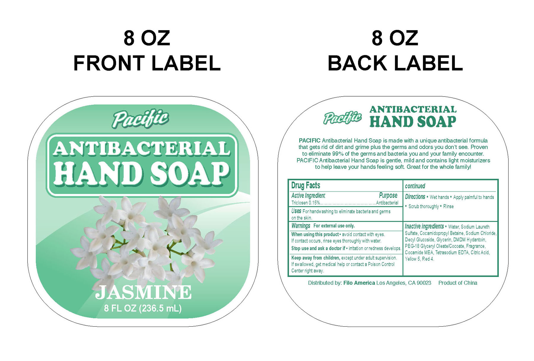 Label for 8 oz