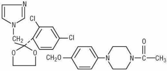 ketoconazole structural formula