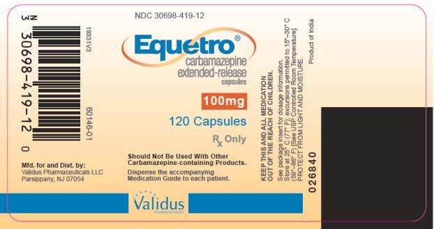 Equetro (Carbamazepine) Capsule, Extended Release [Validus Pharmaceuticals Llc]