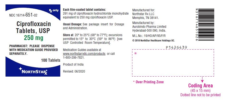 Ciprofloxacin (Ciprofloxacin Hydrochloride ) Tablet, Film Coated [Northstar Rx Llc]