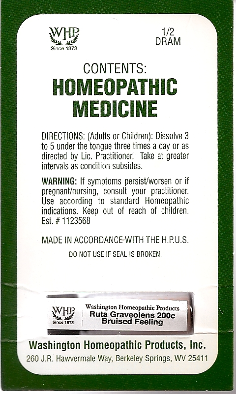 Ruta Graveolens Kit Refill (Ruta Graveolens Flowering Top) Pellet [Washington Homeopathic Products]