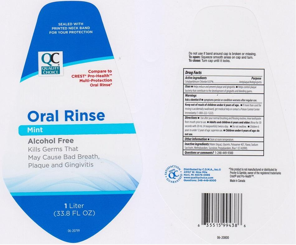 Quality Choice Mint (Cetylpryidinium Chloride) Liquid [Chain Drug Marketing Association Inc]