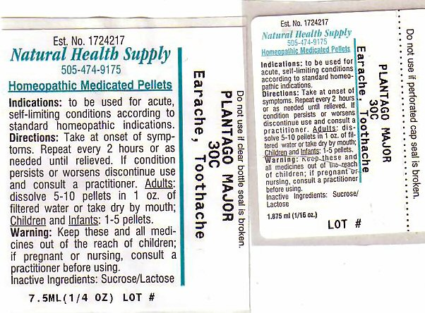 EARACHE TOOTHACHE LABEL