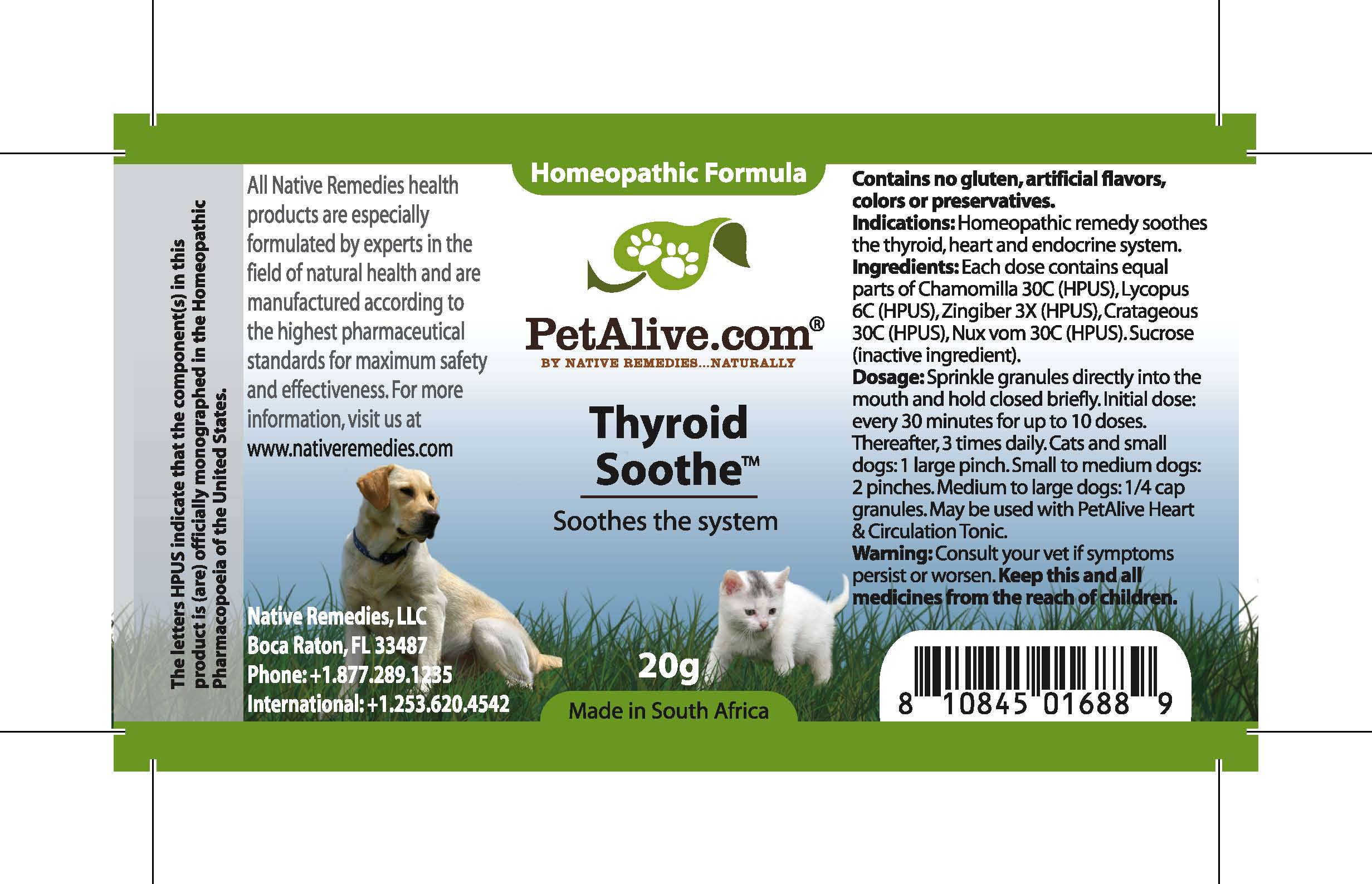 Thyroid Soothe (Chamomilla, Lycopus, Zingiber, Cratageous, Nux Vom) Granule [Feelgood Health]