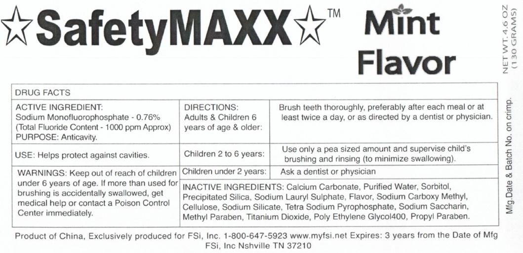 SafetyMaxx Toothpaste