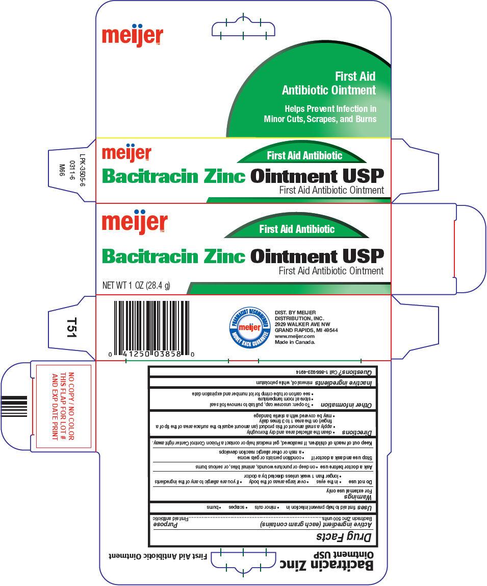 Meijer Bacitracin Zinc (Bacitracin Zinc) Ointment [Meijer Distribution Inc]