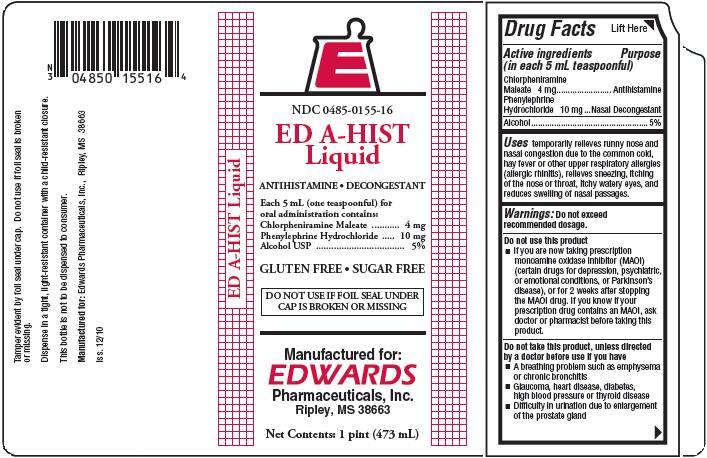 Ed A-hist (Chlorpheniramine/phenylephrine) Liquid [Edwards Pharmaceuticals, Inc.]