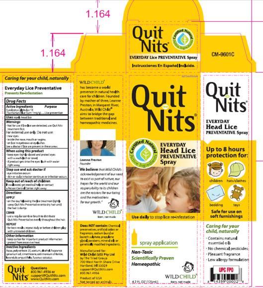 Quit Nits Preventative (Eucalyptus Globulus) Spray [Wild Child W A Pty Ltd]