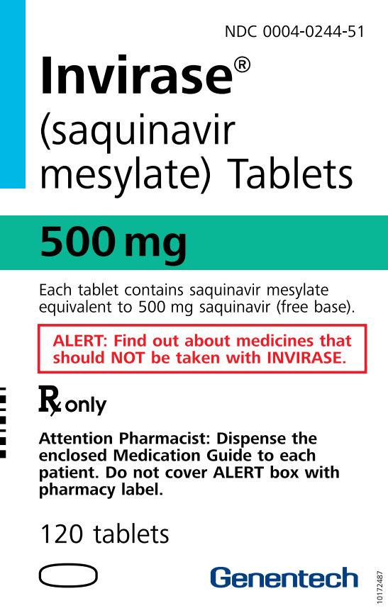 Invirase (Saquinavir Mesylate) Capsule Invirase (Saquinavir Mesylate) Tablet, Film Coated [Genentech, Inc.]
