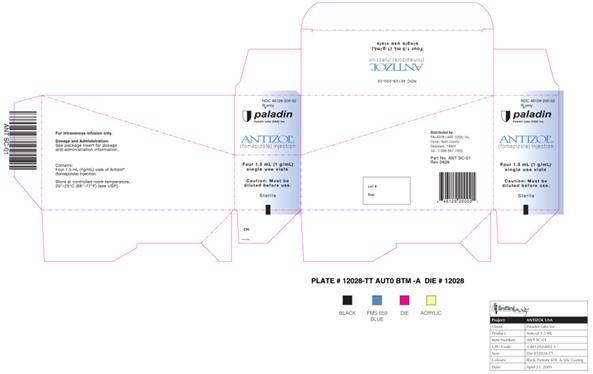 Antizol (Fomepizole) Injection [Paladin Laboratories (Usa) Inc]