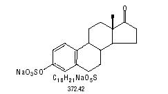 structural formula for sodium estrone sulfate