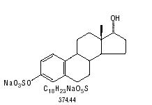 structural formula for sodium 17 alpha estradiol sulfate